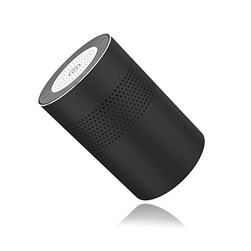 Geker Mini Bluetooth Lautsprecher Box mit 5W Treiber,Tragbar Speaker mit 360° Surround-Klang,TF Karte Slot,Mikrofon und Micro-USB-Ladeanschluss,super Sound,Schwarz