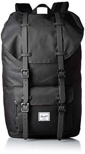 Little America Backpack Black/Black Rubber Backpack