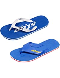 IndiWeaves Men's Soft Rubber Flip-Flops And House Slippers Hawaii Flip-Flops Hawaii Slippers -Combo 2 Pair - B072NPHZ54