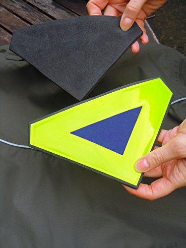 Reflektierende tragbar Sicherheit Triangle geeignet für das Hinzufügen zu Jacken und Rucksäcke | Anwendungen Magnete zu halten die meisten Stoffe | Nützliche für zusätzliche Sicherheit beim Laufen, Jo blau