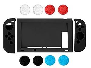 Nintendo Switch Case, Chickwin Housse de protection antidérapante souple et durable en silicone pour Nintendo Switch