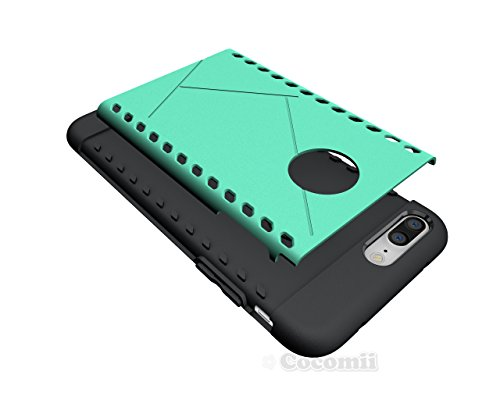 iPhone 8 Plus / 7 Plus Hülle, Cocomii Paladin Armor NEW [Heavy Duty] Premium Tactical Grip Slim Fit Shockproof Hard Bumper Shell [Military Defender] Full Body Dual Layer Rugged Cover Case Schutzhülle  Green