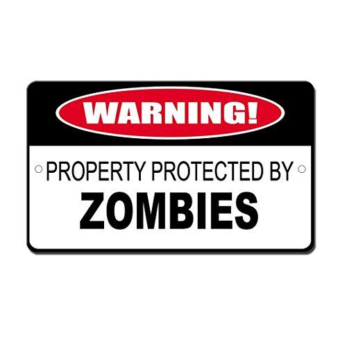 OneMtoss - Cartel aluminio protegido Zombies 20 x