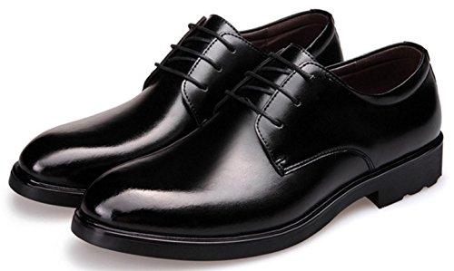 Zapatos Casuales De Negocios Nspx Para Hombres Nuevo Vestido De Novia De Encaje Liso Zapatos De Banquete, 43 Negro-40