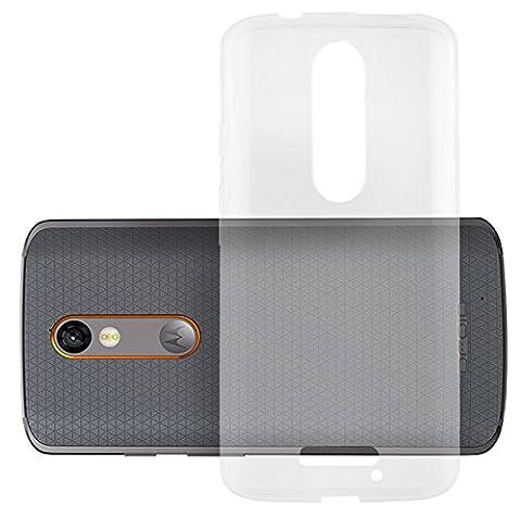 Cadorabo - Ultra Slim TPU Etui pour Motorola MOTO X FORCE Housse Gel (silicone) en Design 'AIR' - Coque Case Cover Bumper en COMPLET-TRANSPARENT
