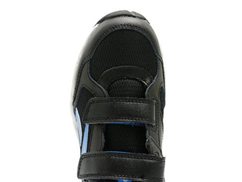 Baskets Fille Reebok Jouet Pour Enfants Gamme KC Cuir Velcro enfants Chaussures Course noir bleu