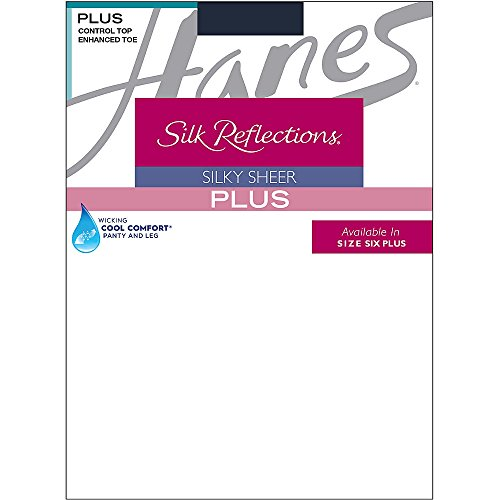 Hanes Silk Reflections Plus Sheer Control Top Enhanced Toe Pantyhose (Strumpfhose Leg Control Top)