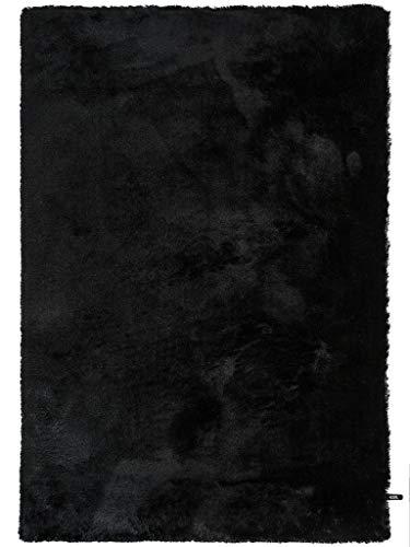 benuta Shaggy Hochflor Teppich Whisper Schwarz 120x170 cm | Langflor Teppich für Schlafzimmer und Wohnzimmer - Schwarzer Flokati-teppich