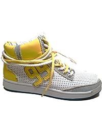 Frankie Morello Hi Top Sneakers Uomo Mcbi125093o Pelle Blu g9Jvs