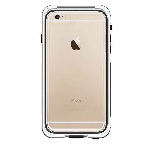 Phone case & Hülle Für IPhone 6 Plus / 6s Plus, ABS Material wasserdicht Schutzhülle mit Knopf- und Touchscreen-Funktion ( Color : Grey ) White