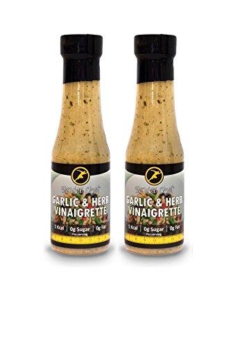 Aroma Herb (Slender Chef Sauce Fettfrei Zuckerfrei Kalorienfrei Aromen Delikat- 2x Garlic & Herb Vanaigrette 350ml)