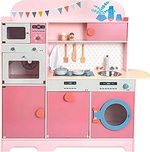 11465 Cocina Infantil, Sueño de niña, Small Foot, de Madera, Cocina Multifuncional, Juego de rol
