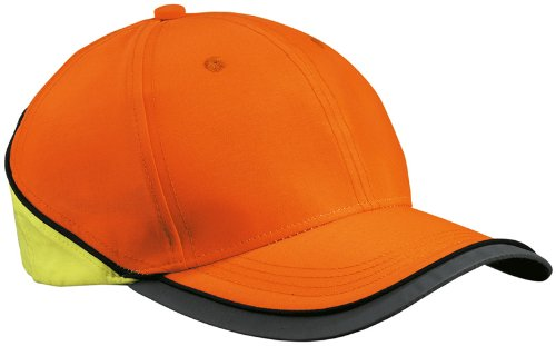 Myrtle Beach Uni Cap Neon-Reflex, neon orange/neon yellow, One size, MB036 norny