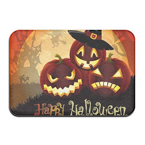 artyly Halloween Scary Ghost Kürbis Deco-mat Fußmatte, Fussmatte Innen, rutschfest, Waschbar - Schmutzfangmatte - Fussabtreter - Türmatte 50 x 80 cm (Scary Halloween-kuchen Zu Machen)