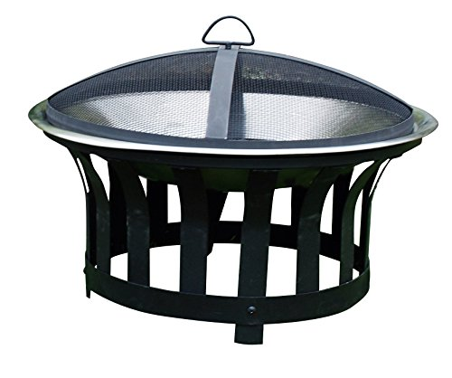 Kingfisher OUTFIRE Outdoor BBQ Fire Pit Heater, Black & Silver, One Size