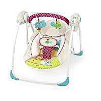 La balancelle portable Polka Dots de Bright Starts(TM) offre le confort d'un berceau, le plaisir de se balancer et des jouets amusants pour bébé. Grâce a sa technologie TrueSpeed(TM), cette balancelle portable détecte automatiquement le poids de votr...
