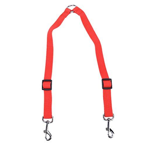 sevenmye Double Dog Leine Kupplung, verstellbar Splitter führen Langlebig ist für alle Hund Walker und Trainer 1x 30,5-50,8cm Vision-splitter