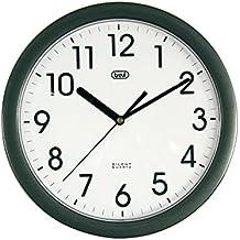 Trevi OM 3301 - Orologio da Parete - Quarzo silenzioso – 25cm – Nero