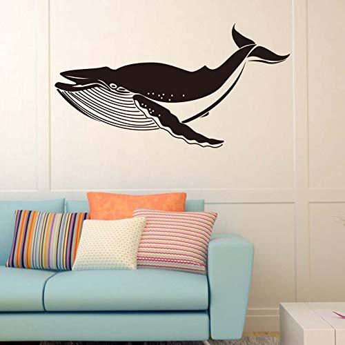 Sea whale vinyl wandtattoo tier wohnkultur wohnzimmer schlafzimmer entfernbare wandaufkleber diy kunst wandbild tapete 42 * 80 cm