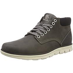 Timberland Bradstreet Chukka Leather, Bottines Homme, Gris (Dark Grey Full Grain), 42 EU