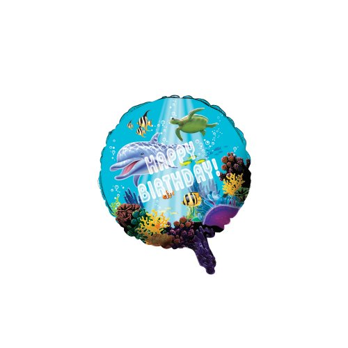 Unbekannt Creative Converting Ocean Party Metallic Ballon, 18