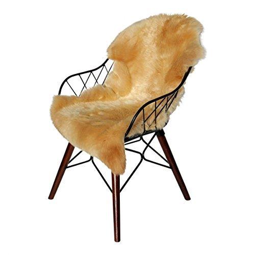 Hollert german leather fashion pelle di pecora - coburger scialle di volpe pelliccia di pecora runner decorazione - marrone chiaro, 100-110