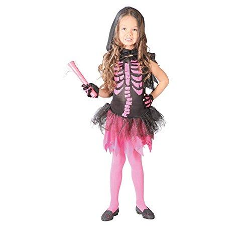 Imagen de disfraz de esqueleto rosa para niña  4 6 años