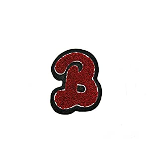 Altotux 2 and 3/8x 3.25 Chenille Letter B Sew On Letterman Jacket Patch Motif by Altotux