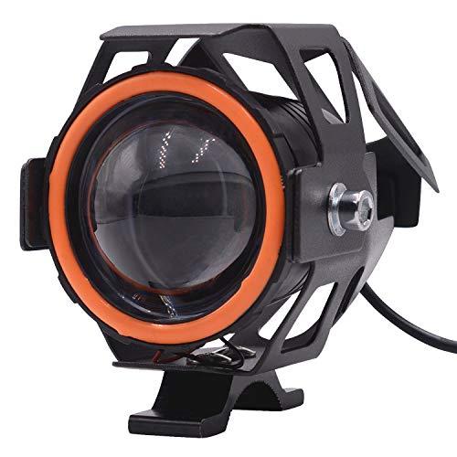 No brand Moto Faro LED di Guida Running Light Nebbia della Lampada con Angel Eyes Luci Anello Ant, fari a LED for Moto Accessori Moto Accessori per motociclette (Color : Red, Edition : 1pcs)