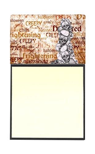 Caroline's Treasures Gruseliger und fröhlicher Schädel-Spender für Halloween, wiederbefüllbar, 8 x 14 cm, Mehrfarbig