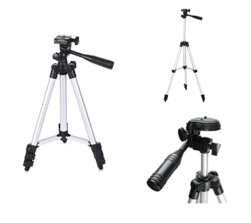 NewTech leichtgewicht 130 cm Stativ für Digitalkameras + Tragetasche für Canon Powershot + Elph A, SX, S Series inc G3 G16 SX240 HS, SX280 HS, SX510 HS, SX530 HS, SX610 HS, SX620 HS, SX710, S120, S200
