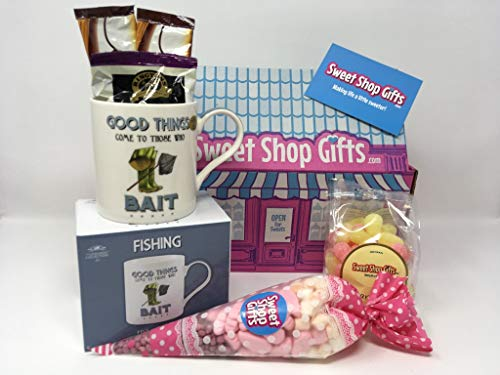 The Fishing Lover's Mug and Pink Sweets Hamper