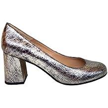 7e5e272ae30 Gennia Viva - Zapatos de Tacón Ancho 7 cm con Punta Redonda Cerrada para  Mujer