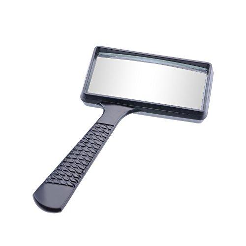 ng Rechteck Handheld-Vergrößerer Lesung Lupe Objektiv Schmuck Lupe (schwarz) ()