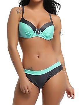 c8213c203b8b FITTOO Bikini Due Pezzi Costume da Bagno Sexy Donna Push up Imbottito con  Pad