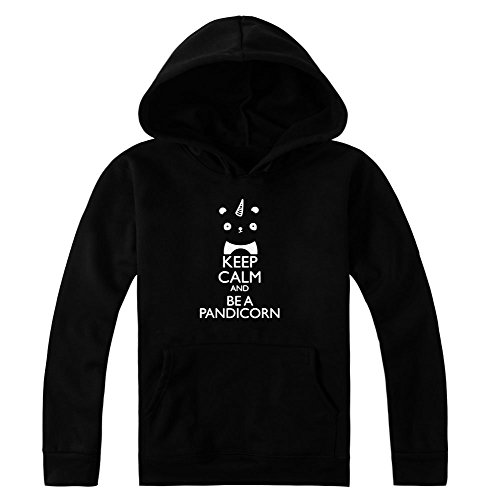 Keep Calm And Be A Pandicorn Women's Hoodie Pullover Extra Large