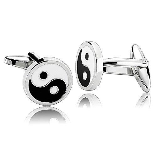 Aeici Herren Manschettenknöpfe Schmuck Chinesisches Tai Chi Symbol 1.6X1.6Cm