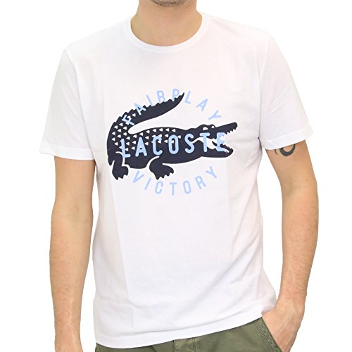Lacoste Fairplay Herren T-Shirt (TH8082 - 00) Weiß (WHITE 001)
