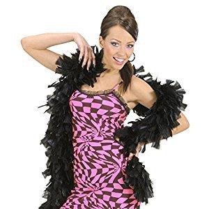 Federboa schwarz Deluxe Federboas Feder Boa Federschal Stola Charleston Kostüm Zubehör 20er Jahre (20 Kostüme)