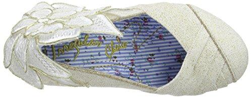 Irregular Choice - Baby Love, Scarpe Col Tacco da Donna bianco(White (Cream))