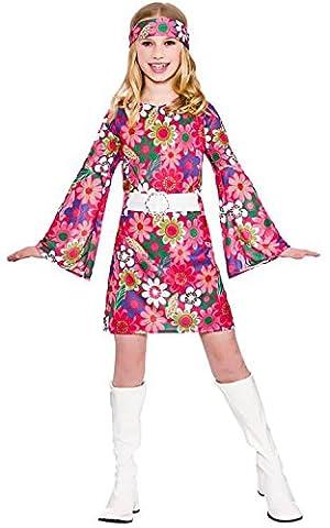 Girl Costume Hippie - Girls Retro Go Go Girl Fancy Dress