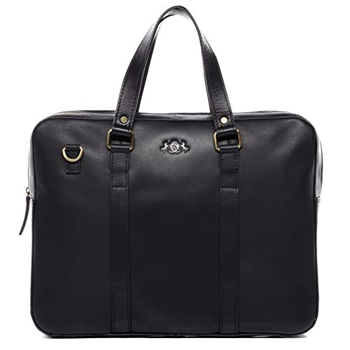 SID & VAIN Real Leather Laptop B...
