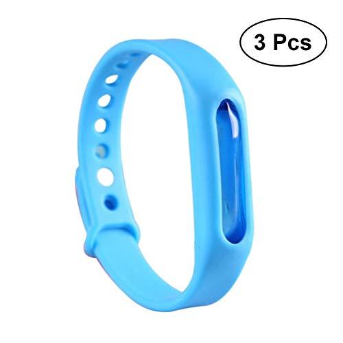 Vosarea 3-Teiliges Armband gegen Mücken, ungiftig, verstellbar, für Erwachsene, Kinder, Blau