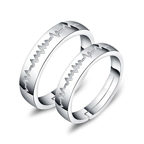 ZPL Argento sterling semplice creativo s925 coppie anello (regolabile)