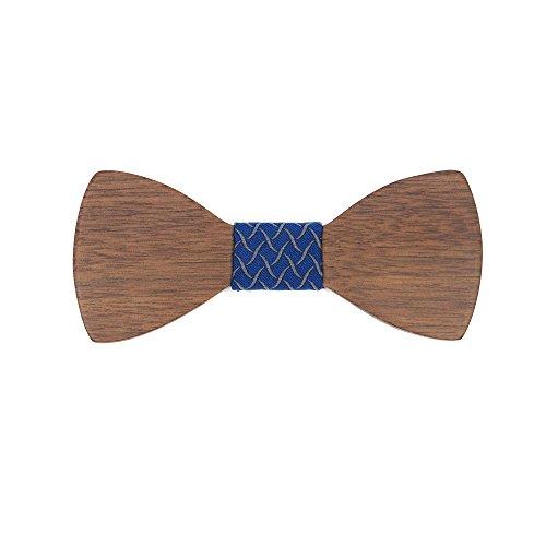 Meijunter D-D42 Cravate en bois pour hommes WT01-1 D-D54
