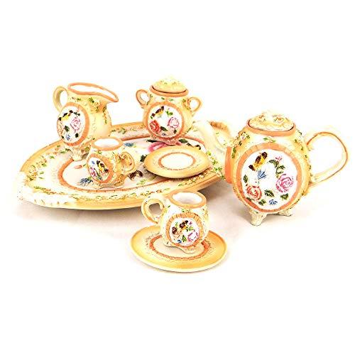 Teeservice, Puppen-Essecke, aus Porzellan,Deko,Schmuckkästchen