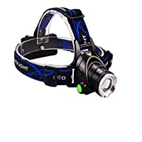 Faro de luz LED T6 Zoom telescópico de largo alcance de pesca a prueba de agua , l2 single lamp does not contain battery charger