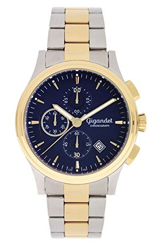 Gigandet Traveller Orologio Uomo Cronografo Analogico Quarzo Blu Oro G44-005