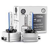 Whitiger D1S Xenon-Brenner, Hid Xenon Scheinwerferlampe 12V 35W, 6000K (2 Lampen)