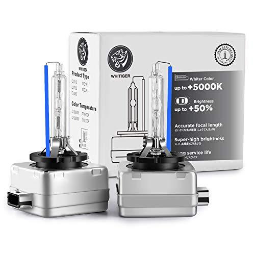 Whitiger D3S Xenon-Brenner, Hid Xenon Scheinwerferlampe 12V 35W, 6000K (2 Lampen)